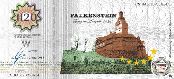 Burg Falkenstein,  eine Souvenir Note zum Sammeln