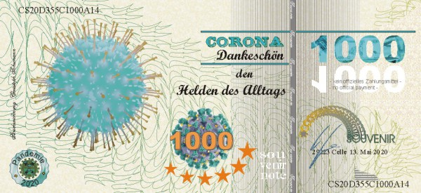 Corona Note zum Sammeln