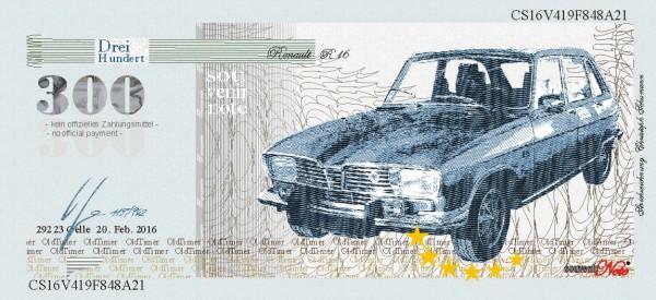 Der Renault, eine Souvenir Note zum Sammeln