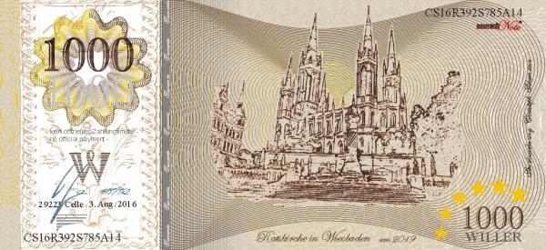 Kirche Wiesbaden, eine Souvenir Note zum Sammeln