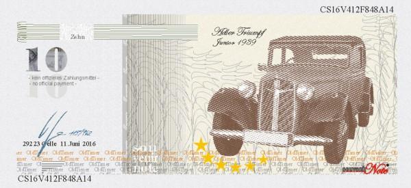 Der Triumpf, eine Souvenir Note zum Sammeln
