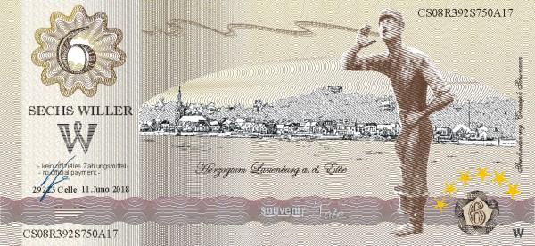 Der Lauenburger, eine Souvenir Note zum Sammeln