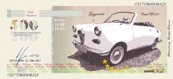 Der Goggo,  eine Souvenir Note zum Sammeln