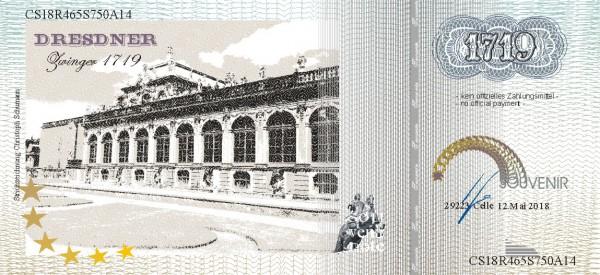 Dresdner Zwinger, eine Souvenir Note zum Sammeln