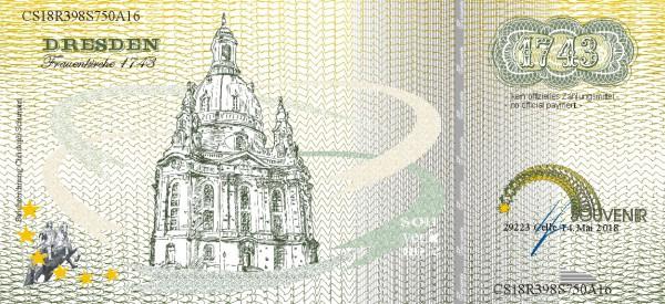 Dresdner Frauenkirche,  eine Souvenir Note zum Sammeln