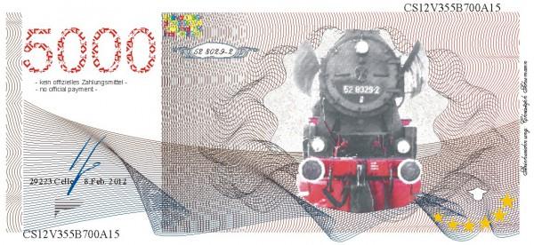 Die G Lok 52, eine Souvenir Note zum Sammeln