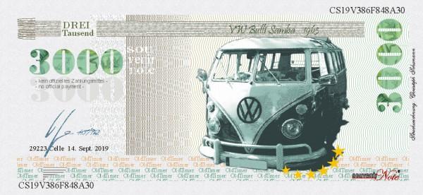 VW Bulli Samba Souvenir Note zum Sammeln