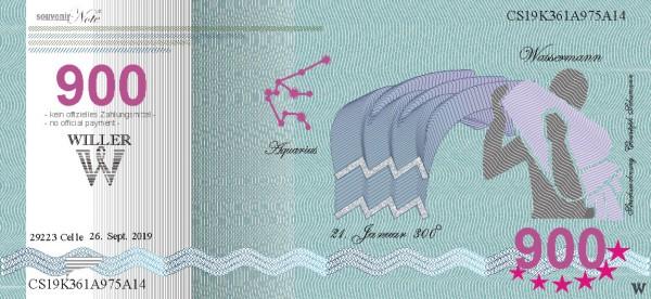 Wassermann, eine Souvenir Note zum Sammeln
