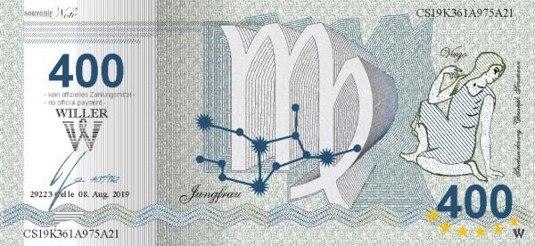 Jungfrau, eine Souvenir Note zum Sammeln