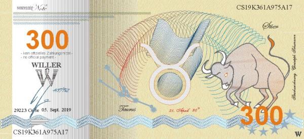 Stier, eine Souvenir Note zum Sammeln