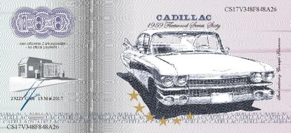 Der Cadillac,  eine Souvenir Note zum Sammeln
