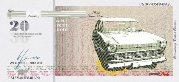 Der Ford Taunus,  eine Souvenir Note zum Sammeln